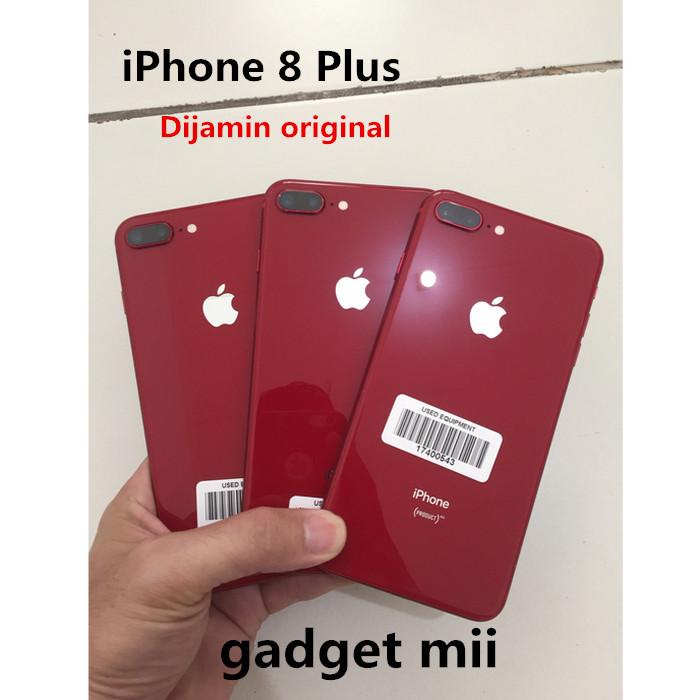 Foto Produk Apple Iphone 8 Plus 64GB Second /Bekas fullset-SIlver gold gray dari Gadget Mii