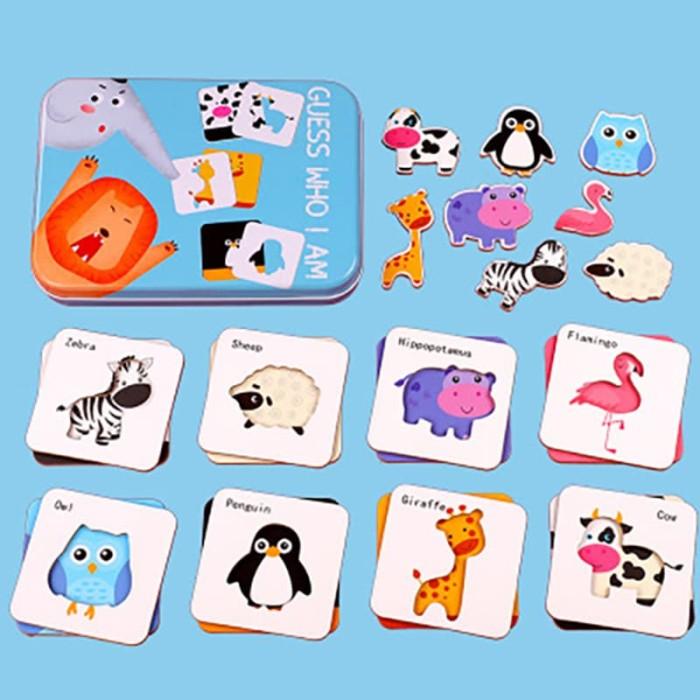 Foto Produk Puzzle Tebak Benda & Hewan / Puzzle Mainan Edukasi Anak - Cars dari Educationplays