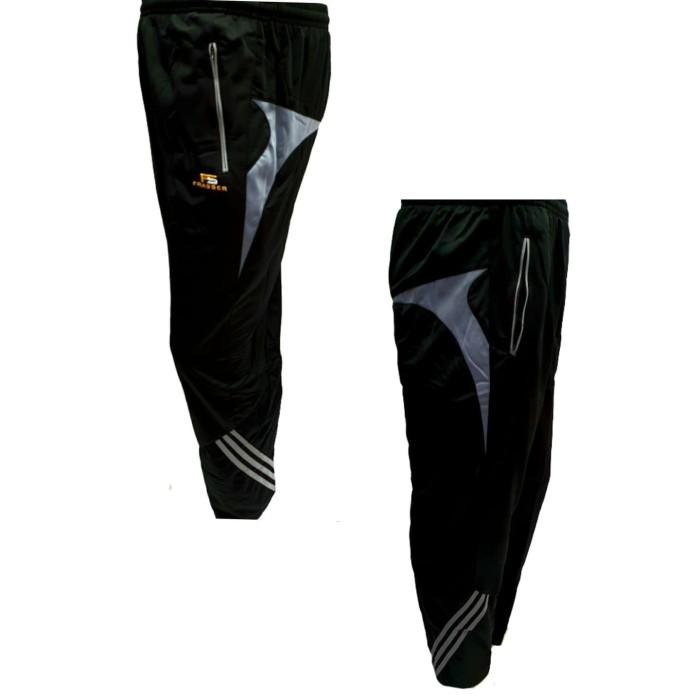 Foto Produk celana training gym fitness running frasser champion hitam abu - L dari Pusat Grosir OLAHRAGA