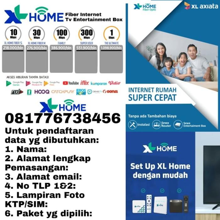 Jual Daftar Internet Paket Xl Home Fiber S Kota Tangerang Daftar Xl Home Fiber Tokopedia