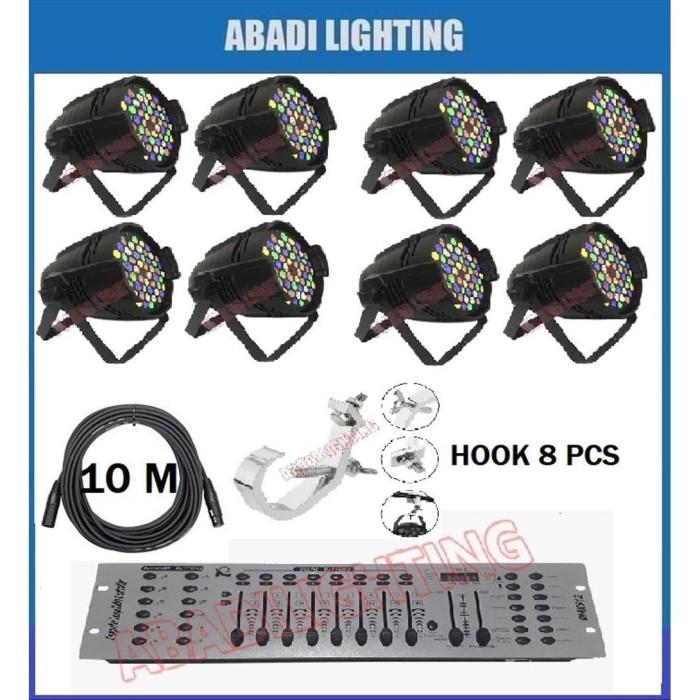 Foto Produk PROMO PAKET LIGHTING PARLED 54 RGBWO MIXER DMX 192 HOOK PARLED DAN dari andilukmono124