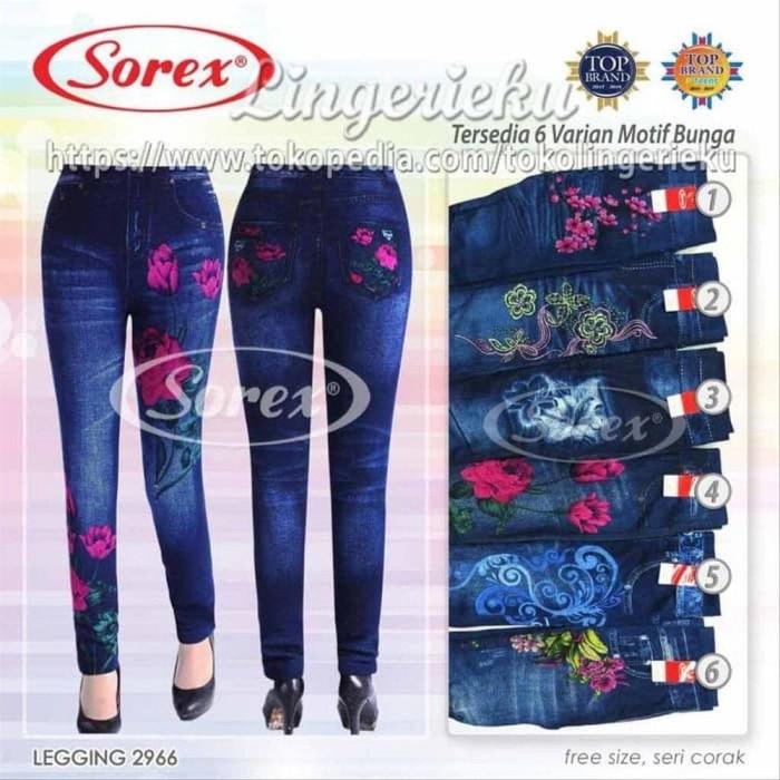 Jual Celana Legging Sorex Model Terbaru Motif Jeans 2966 Dijamin Murah Jakarta Barat Nanashop070 Tokopedia