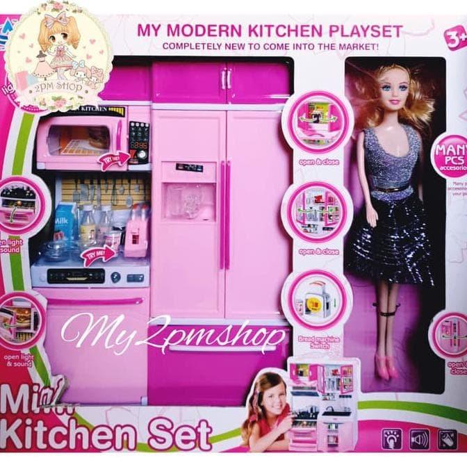 Jual Gadissuper2 Mini Kitchen Set Barbie Mainan Anak Perempuan Kado Jakarta Pusat Jendelabuka Tokopedia
