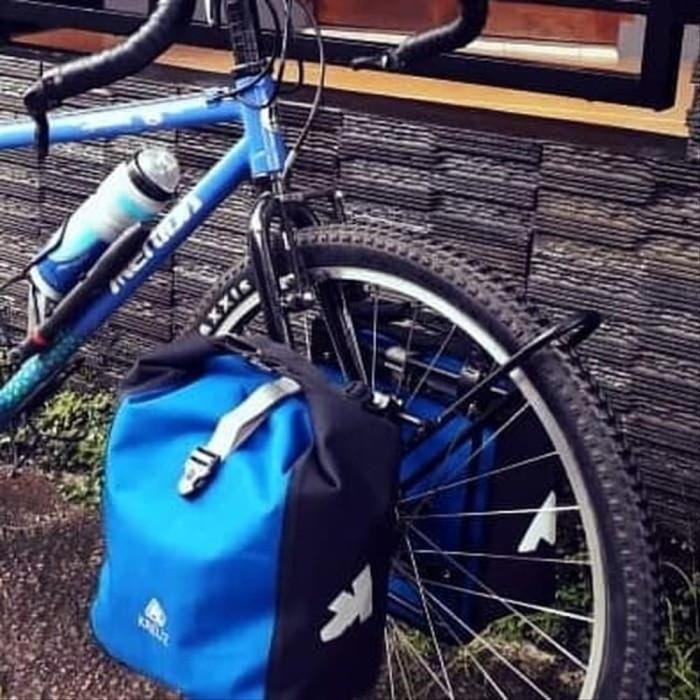 Jual Tas sepeda samping Touring merk KREUZ pannier depan