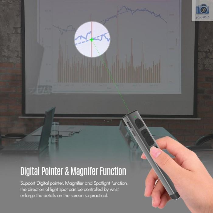 Jual Rechargeable Digital Remote Powerpoint Presenter Ppt Clicker Flip Jakarta Pusat Globalstore 2 Tokopedia