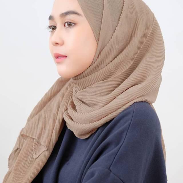 Jual Bisa Cod Pashmina Plisket Hijab Pashmina Plisket Full Pleated Shawl Kota Surakarta Moroartoo Tokopedia