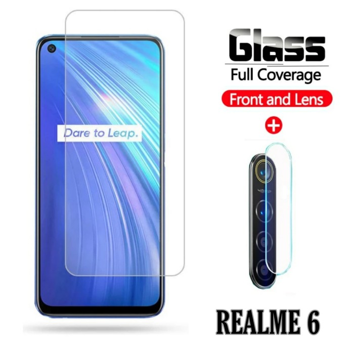 Foto Produk Tempered Glass Realme 6 Pelindung Layar dan Kamera Belakang dari FahryOneMore