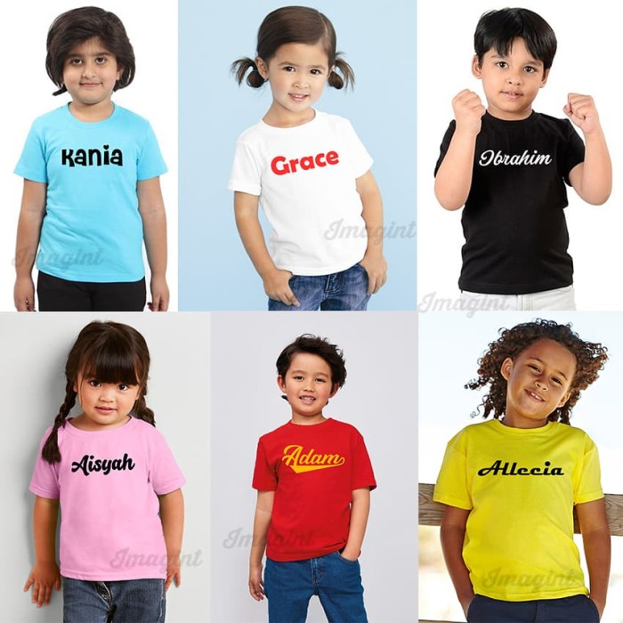 Foto Produk kaos anak bayi balita sablon nama sendiri | custom nama baju kaos dari imagint clothing