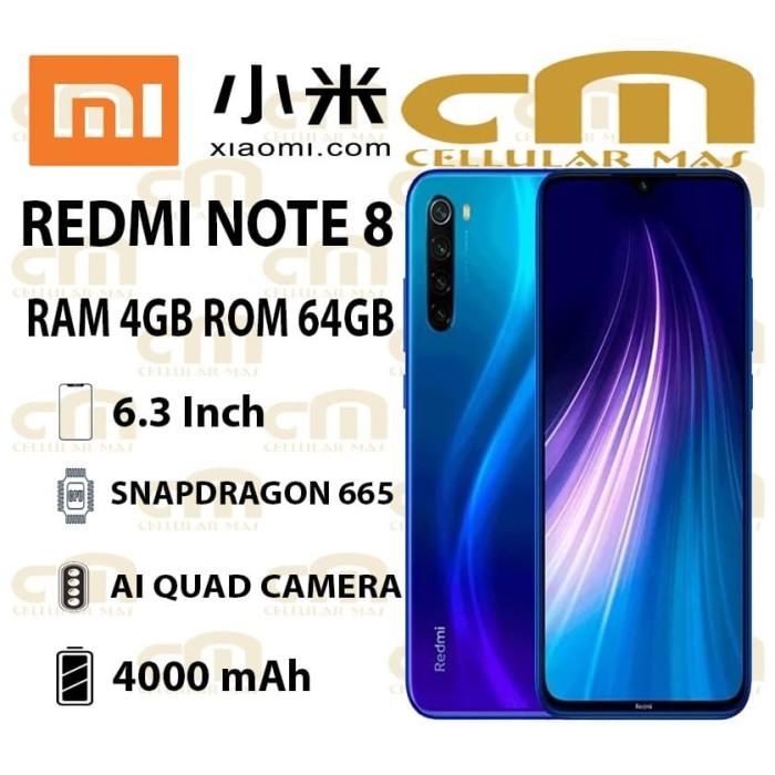 Foto Produk Xiaomi Redmi Note 8 4/64 RAM 4GB ROM 64GB GARANSI RESMI XIAOMI - Hitam dari Cellular Mas