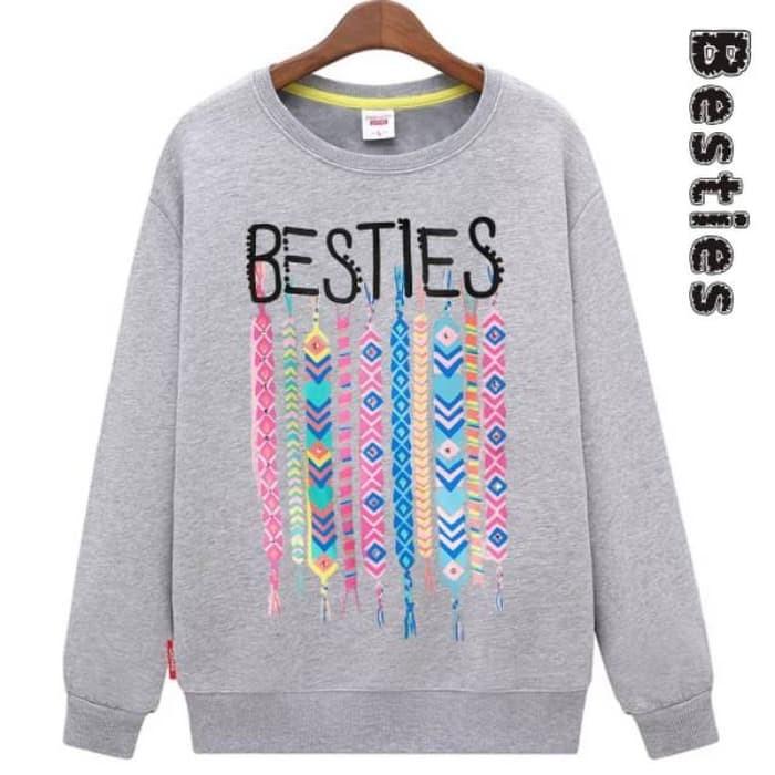 Jual Sweater Cewek Sweater Besties Sweater Murah Sweater Korea Sweater Kota Bekasi Mumerstore30 Tokopedia