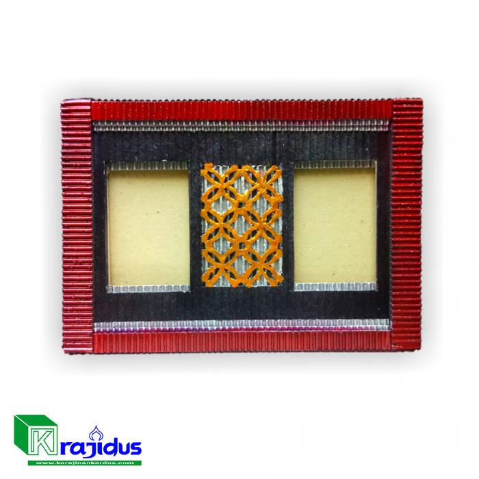 Foto Produk Frame Photo Unik Batik Kawung Krajidus dari Kerajianan Kardus