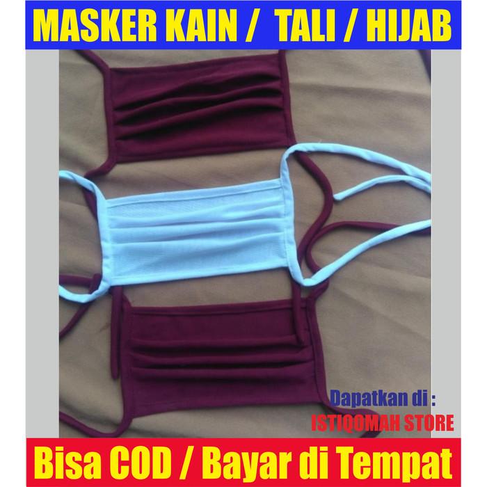 Foto Produk PROMO Masker Kain / Masker Tali / Masker Hijab MURAH TERLARIS dari Istiqomah-Store