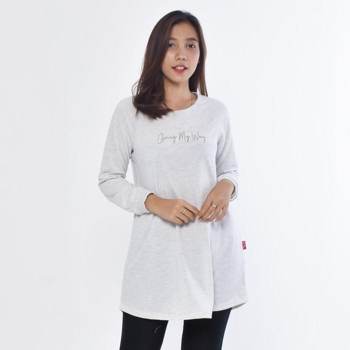Foto Produk METALIZER 5056 T-shirt Tunik Wanita Baju Cewek Lengan Panjang Premium - Misty dari teetimeid