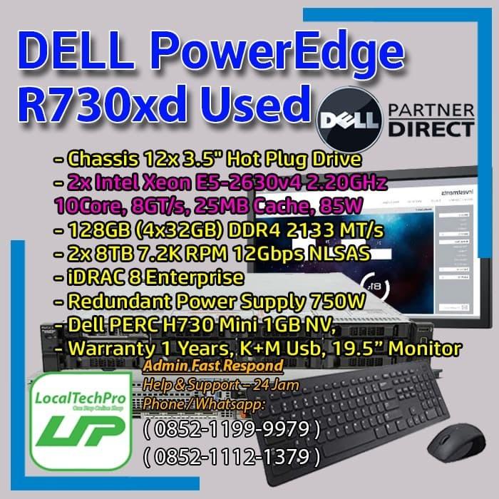 Jual Dell R730xd 2x E5 2630v4 20core 2 20ghz 128gb 2x8tb Used Jakarta Pusat Localtechpro Tokopedia
