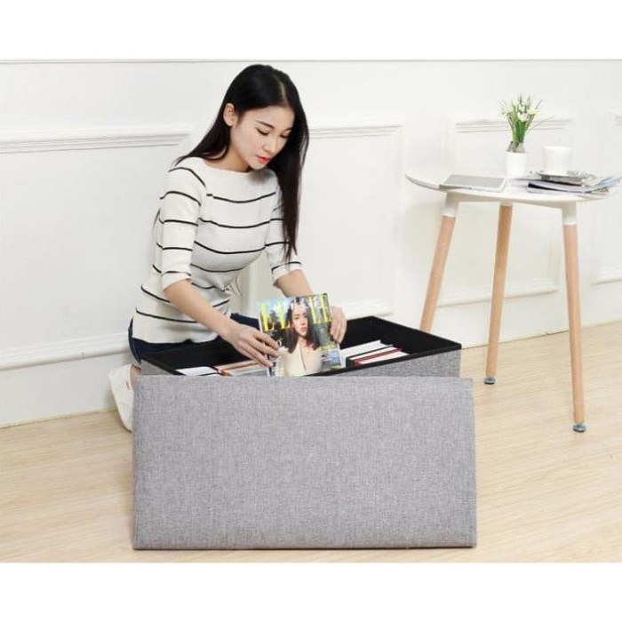 Foto Produk Sofa Tempat Duduk Storage Box Kursi Kotak Penyimpanan Compartment - 50 X 30 X 30 CM dari VWshop_