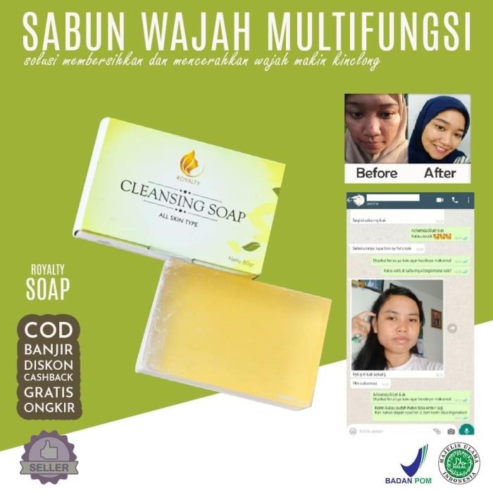 Foto Produk Royalty Cleansing Soap Sabun Pemutih Bdan dan Wajah Multifungsi dari Look The Beauty Official