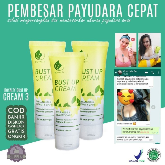Foto Produk Cream Pembesar Payudara Kendur BPOM Royalty Paket Bust Up Cream dari Look The Beauty Official