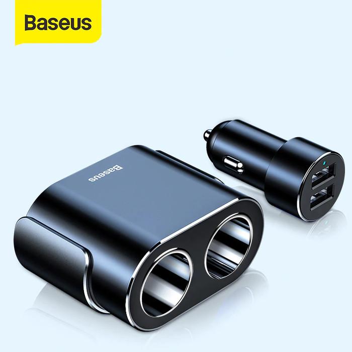 Foto Produk CAR CHARGER BASEUS CHARGER MOBIL USB DUAL PORT - Hitam dari Baseus Official Store