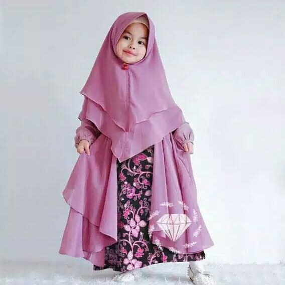 Foto Produk Outfit Hijab Fashion   Anak Kids Maxi batik kid   Konveksi Jakarta - Pinky dari Neema Fashion
