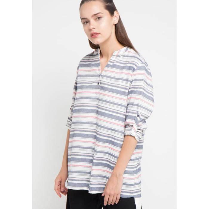 Foto Produk Blouse Wanita EDITION EB33WHITE Tshirt Stripes - XS dari Edition Official Store