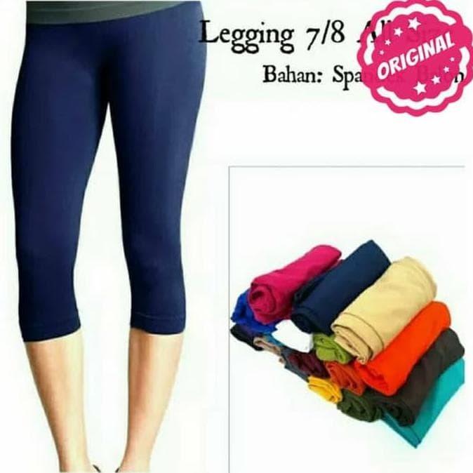Jual Celana Legging Wanita Polos Pendek 3 4 Jakarta Barat Elsiana Shop Tokopedia