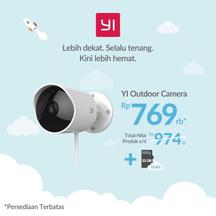 Jual Xiaomi Yi Xiao Yi Outdoor CCTV IP Camera 1080P