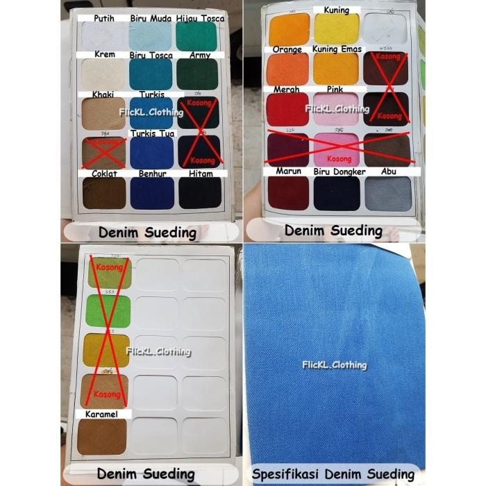 Foto Produk Bahan Kain Jeans Denim Rapel Rafel Sueding Twill 7s Katun Polos dari FlicKL.Clothing