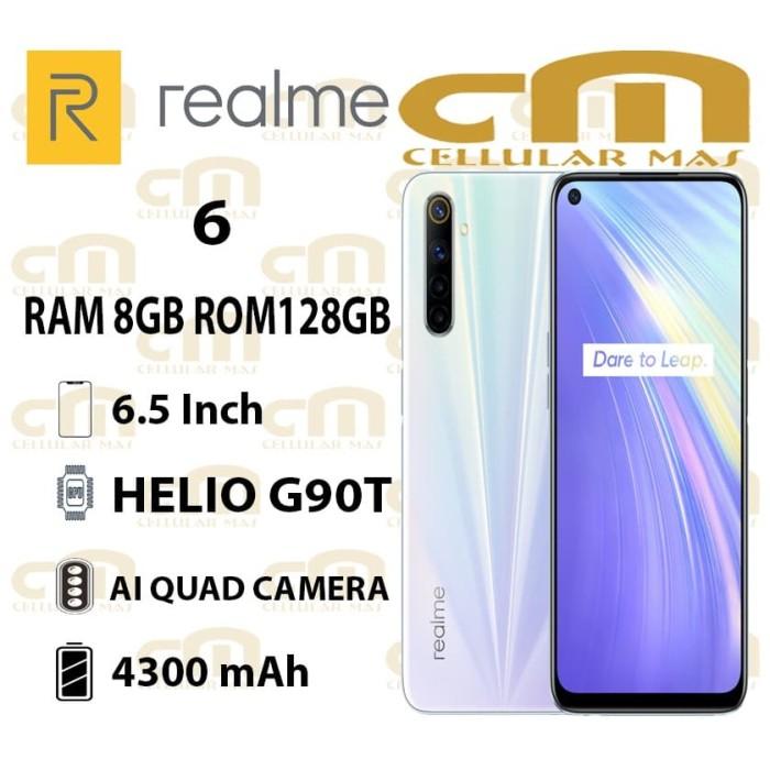 Foto Produk Realme 6 8/128 RAM 8GB ROM 128GB GARANSI RESMI REALME - Biru dari Cellular Mas
