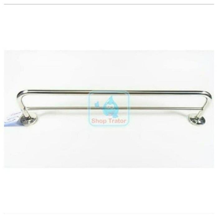 Foto Produk Rak Handuk 2 susun baris Stainless gantungan tempat handuk hanger dari YuThena Official Store
