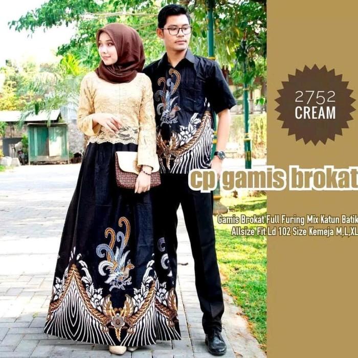 Jual Batik Couple Wanita Pria Muslim Set Family Fashion Kemeja Cowok Lengan Jakarta Barat Aldora Store Tokopedia