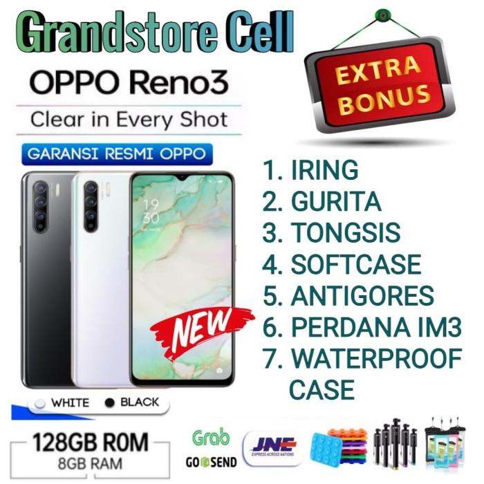 Foto Produk OPPO RENO 3 RAM 8/128 GB GARANSI RESMI OPPO INDONESIA - Midnight Black dari Grandstore cell