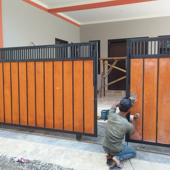 Jual Pagar Minimalis GRC Lisplang Serat Kayu - Kota Depok - Bengkelas |  Tokopedia