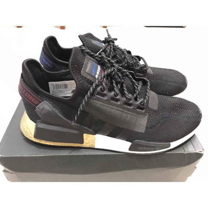 Jual Sepatu Adidas Nmd R1 V2 Black Gold Us 11 45 100 Original