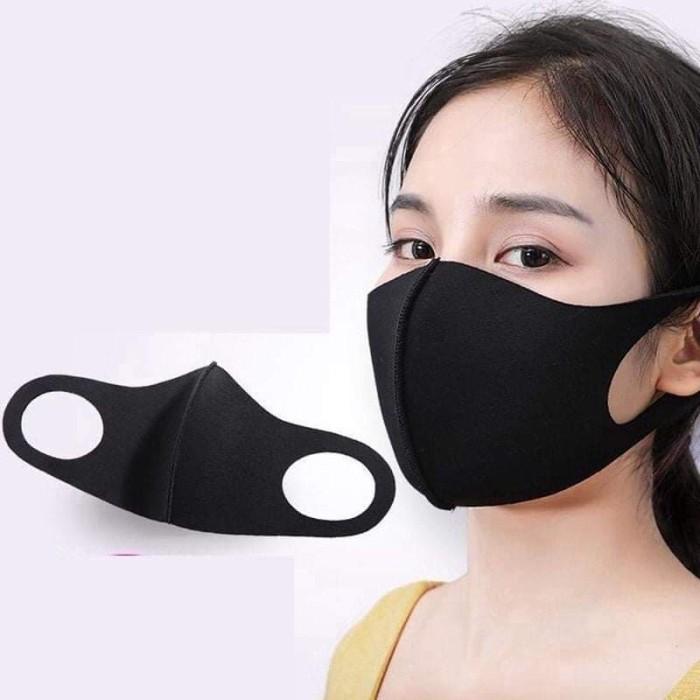 Jual Masker Scuba Model Korea kain Premium - Hitam