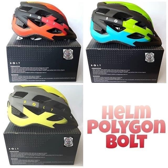 Jual Helm Sepeda MTB Roadbike merk Bolt by Polygon