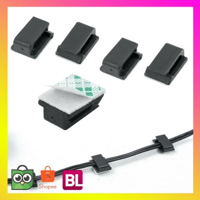 Foto Produk Klip Perapih Pengikat Penjepit Kabel Mobil Listrik USB PC Organizer dari Warindo Store