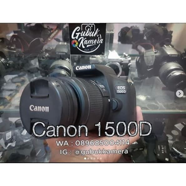 Foto Produk Canon 1500D kit 18-55 ISII LIKE NEW (MURAH) dari GubukKamera