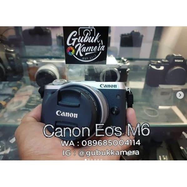 Foto Produk Canon m6 kit 15-45 LIKE NEW (MURAH) dari GubukKamera