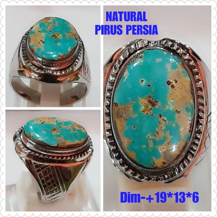 Foto Produk NATURAL BATU AKIK PERMATA PIRUS PERSIA DUA WARNA C23 dari arjuna cincin