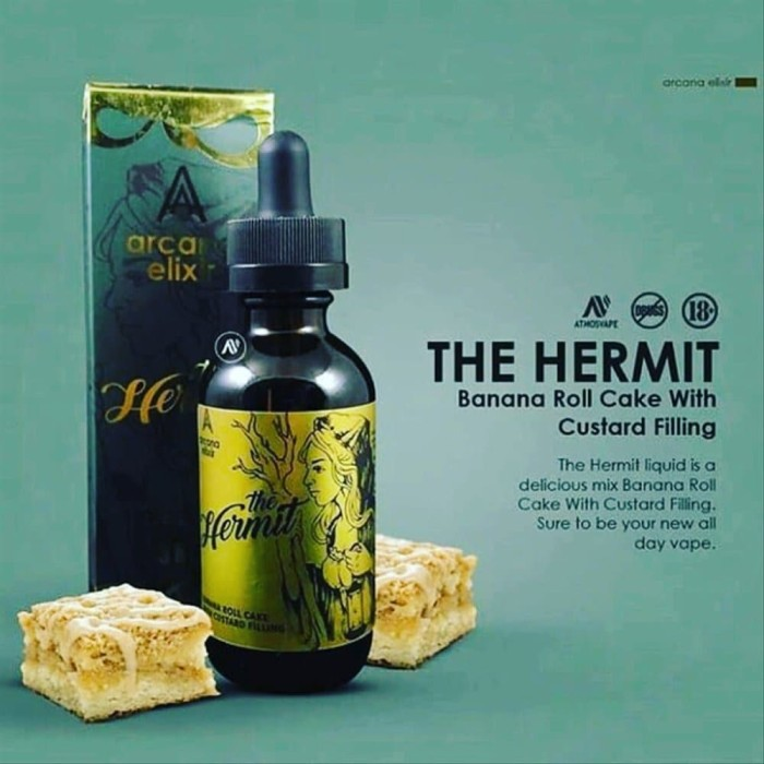 Foto Produk THE HERMIT 60ML - PREMIUM LIQUID VAPE BY ARCANA ELIXIR - TRILOGY dari KLAVA