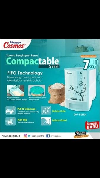 Foto Produk Cosmos RiceBox Tempat Beras Mini 7Kg dari rismaa11