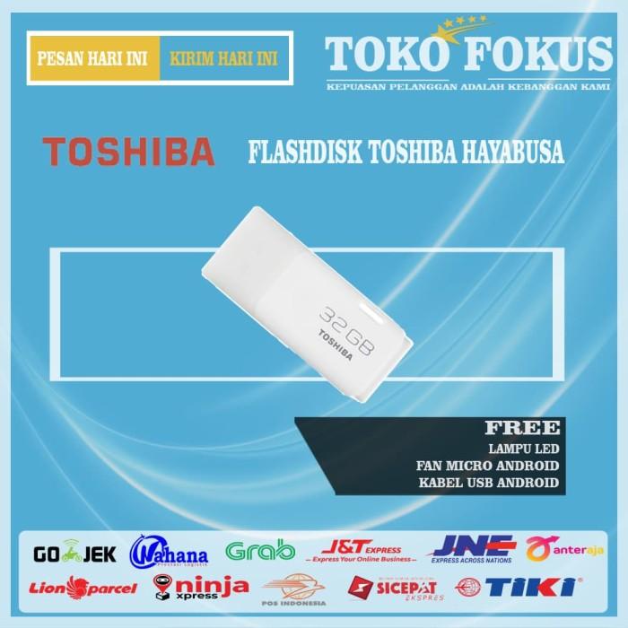 Foto Produk Toshiba Flashdisk Original Hayabusa 32gb Free LED + Fan Micro + Kabel dari Toko Fokus