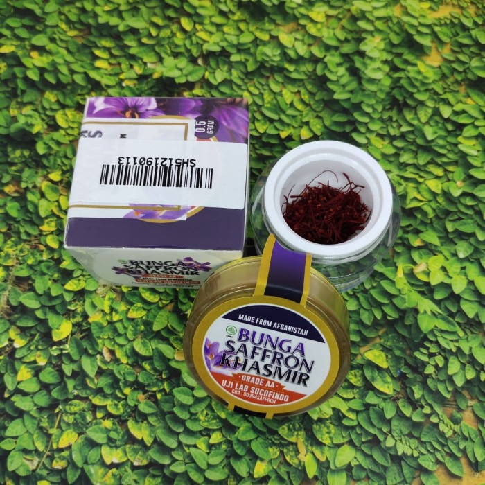 Foto Produk Bunga Saffron Khasmir Premium quality safron original (GRADE AA) - Bun dari Adnan Herbal