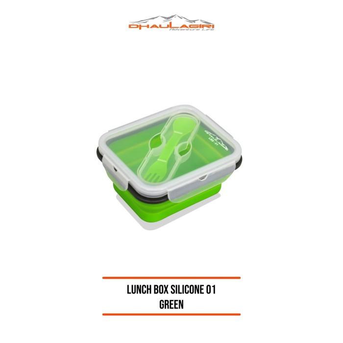 Foto Produk DHAULAGIRI LUNCH BOX SILICONE DH 01 SET Tempat Makan Silicon dari Dhaulagiri official