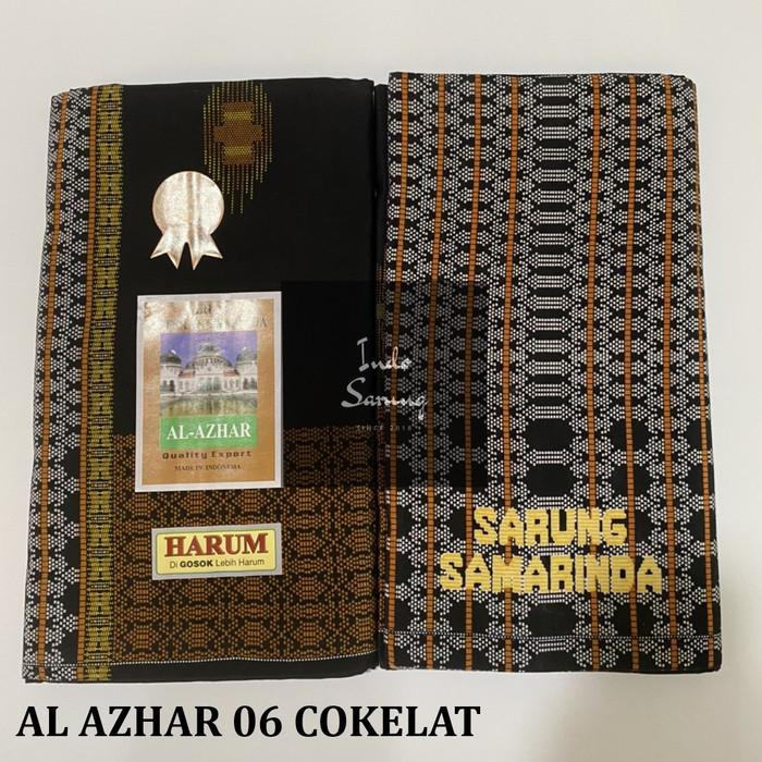 Foto Produk Sarung Samarinda Al Azhar type 06 - Cokelat dari indosarung