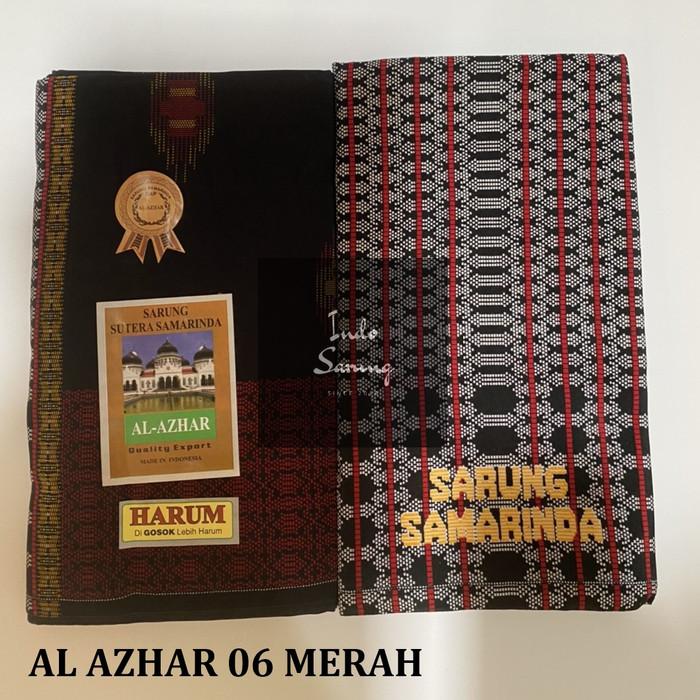Foto Produk Sarung Samarinda Al Azhar type 06 - Merah dari indosarung