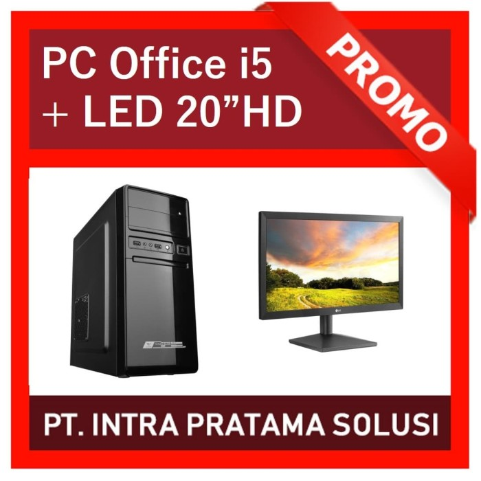 "Foto Produk PC Core i5 + 4GB RAM + HDD 1TB + LED 20"" (For Office Needs) dari PT. Intra Pratama Solusi"