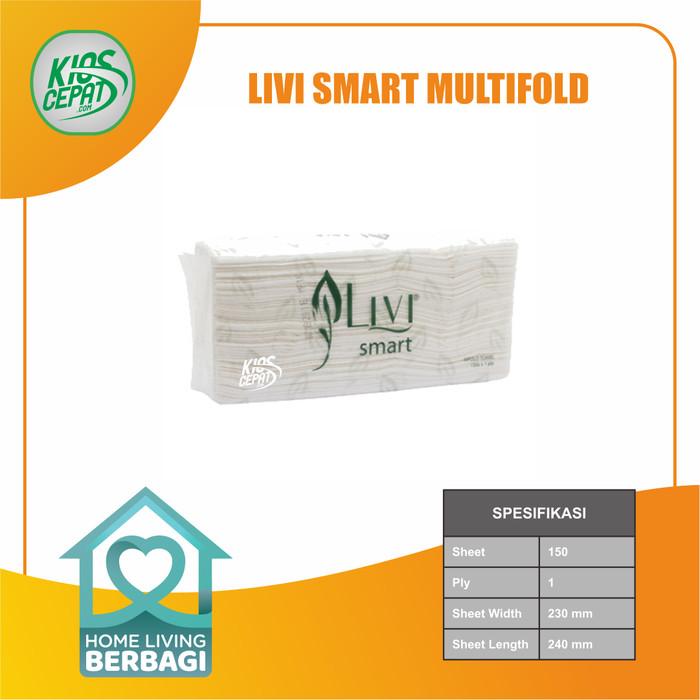 Foto Produk Tissue LIVI SMART TOWEL Multifold 150's dari KiosCepat