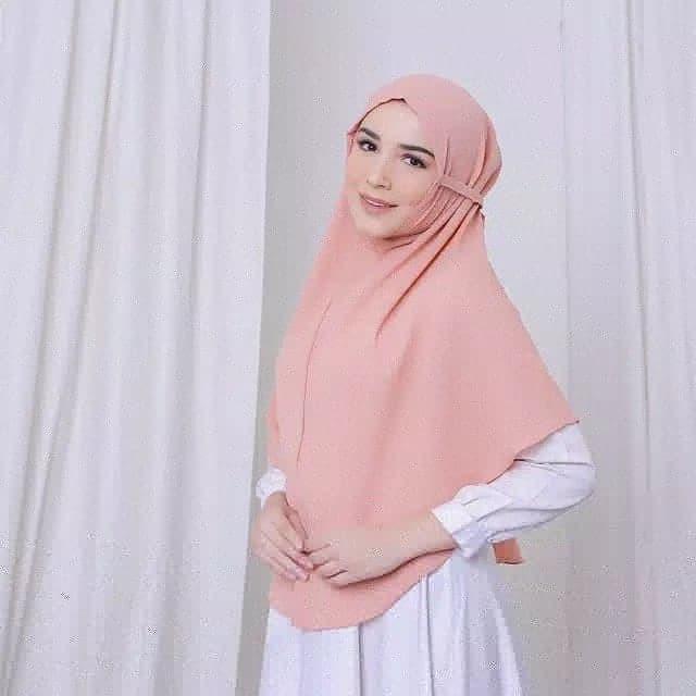 Jual Hijab Khimar Bergo Jumbo Maroon Kab Boyolali Dhirieffahijab Tokopedia