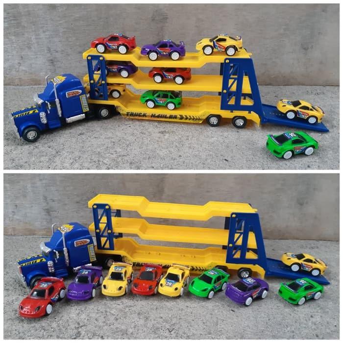 Foto Produk Mainan Set Truk Hauler Angkut - Trailer Muatan Mobil Anak Edukasi dari ZhafiraCorps